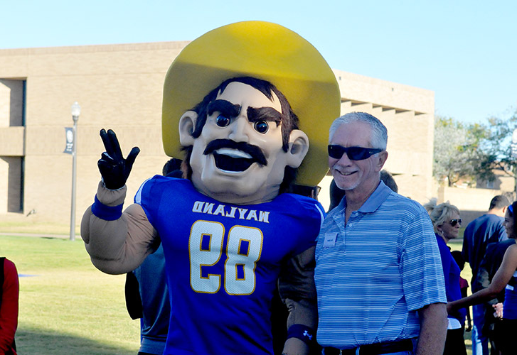 Pioneer Pete and a WBU fan