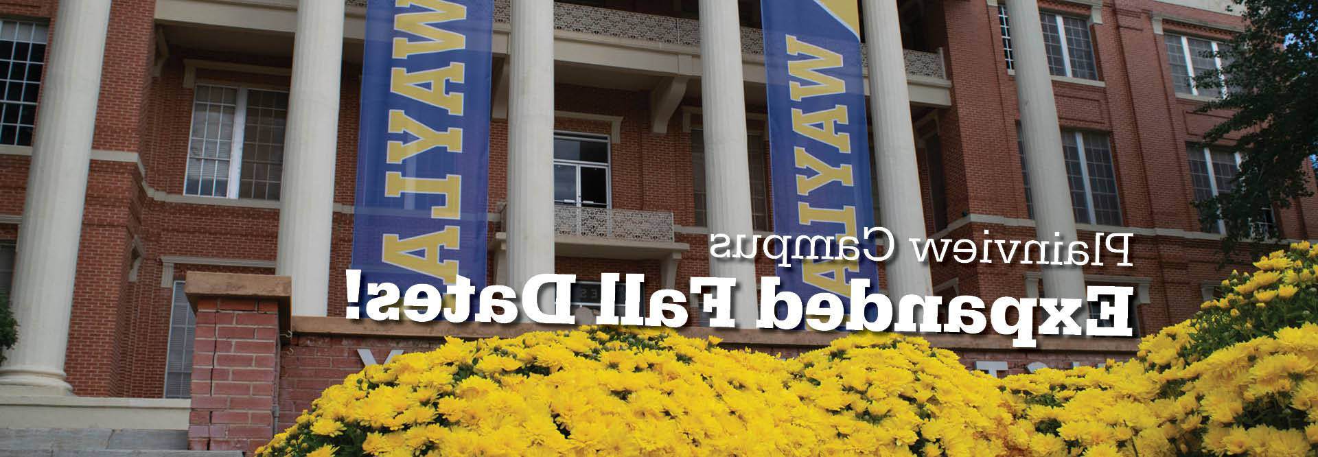 image of the front of gates hall with text that reads see you in the fall
